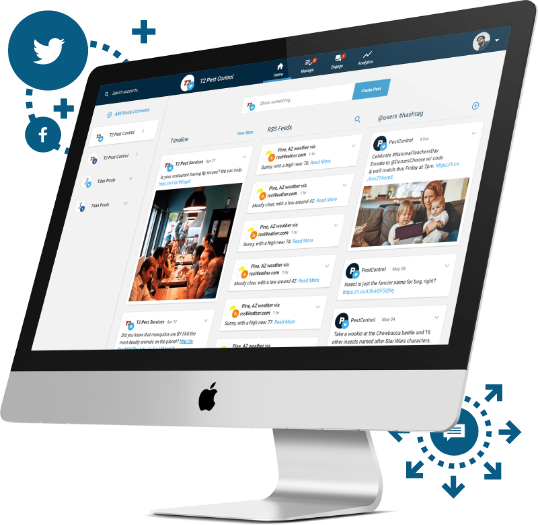 View timelines, RSS feeds, and hashtags